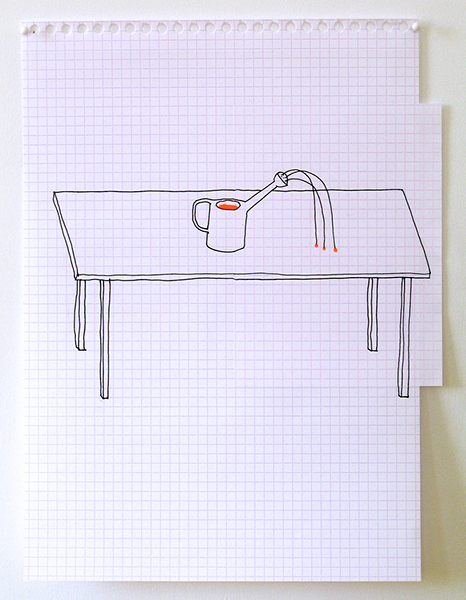 'La table', Ink on paper, 2007