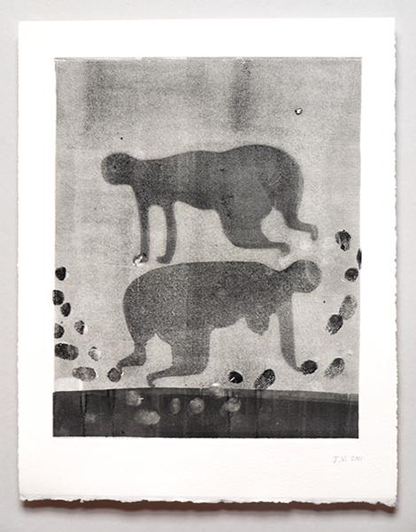 '8 pattes', Monoprint, 2011