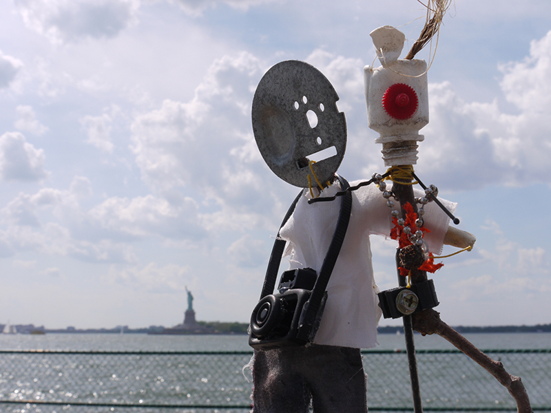 'Say cheese', Made with found objects on Governors Island, limited ed C-Print, 2012