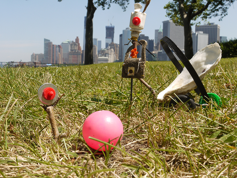 'At the park', Made with found objects on Governors Island, limited ed C-Print, 2012