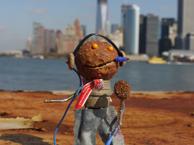 'Hello NY', Made with found objects on Governors Island, limited ed C-Print, 2012