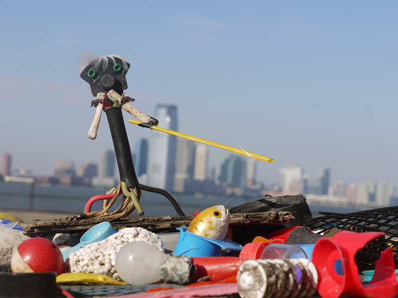 'Catch of the day', Made with found objects on Governors Island, limited ed C-Print, 2012