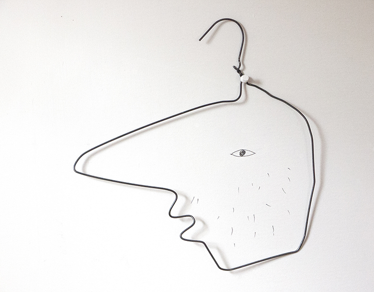 Big Nose, Wire and pencil, 2009