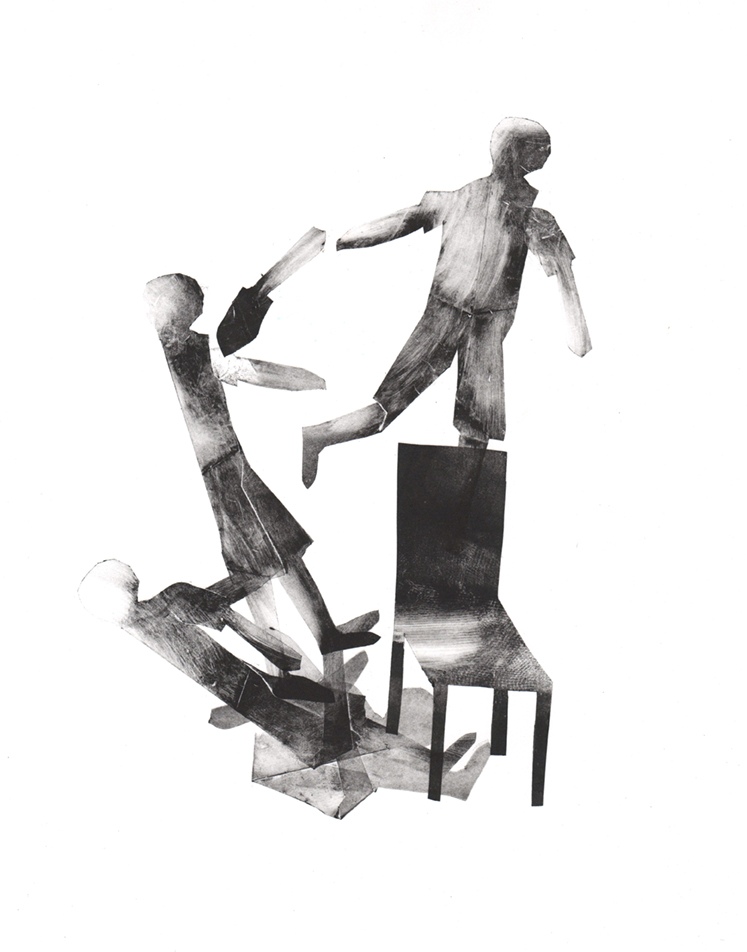'Grandir', Monotype on acid free paper, 11x15 in, 2015