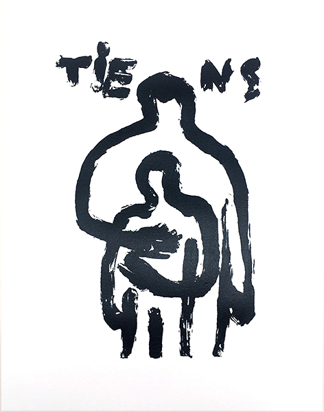 Tiens, Silkscreen, 2016, limited ed. of 12 – Contact jv@jeanneverdoux.com