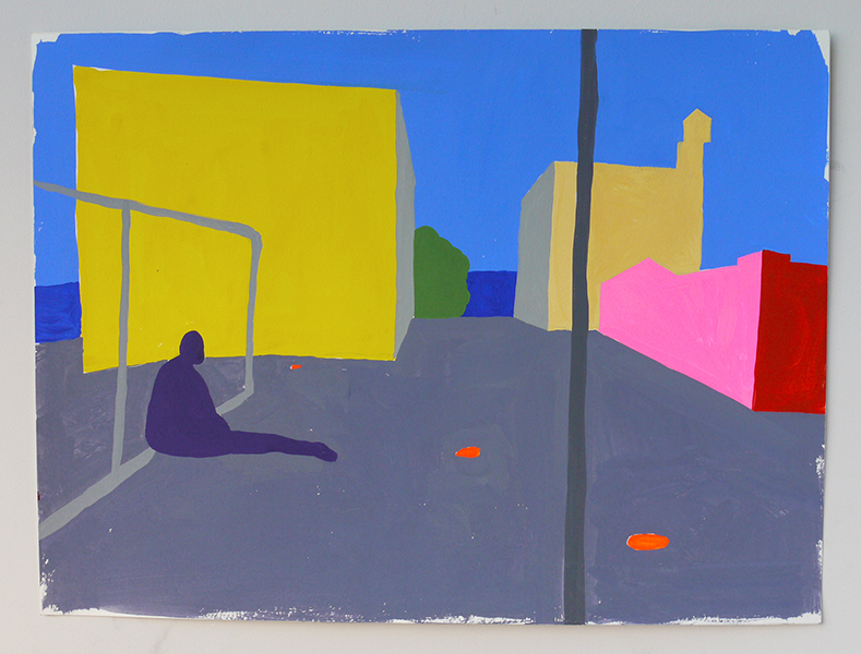 East New York #2, Gouache on paper, 2018