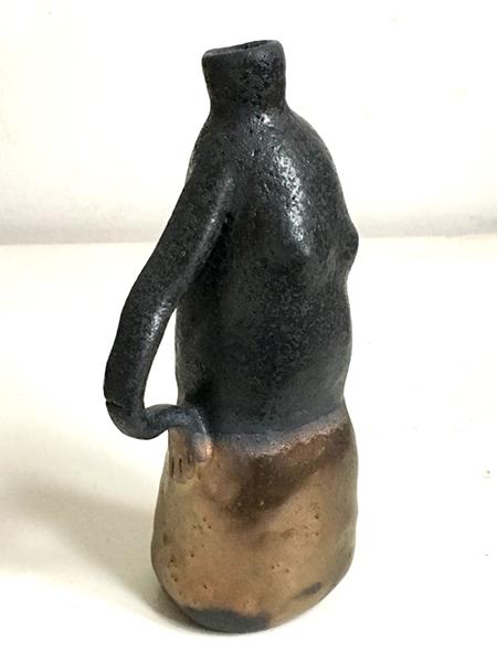 Femme bouteille, Glazed ceramic, 2019, 6x2x2.5 in.