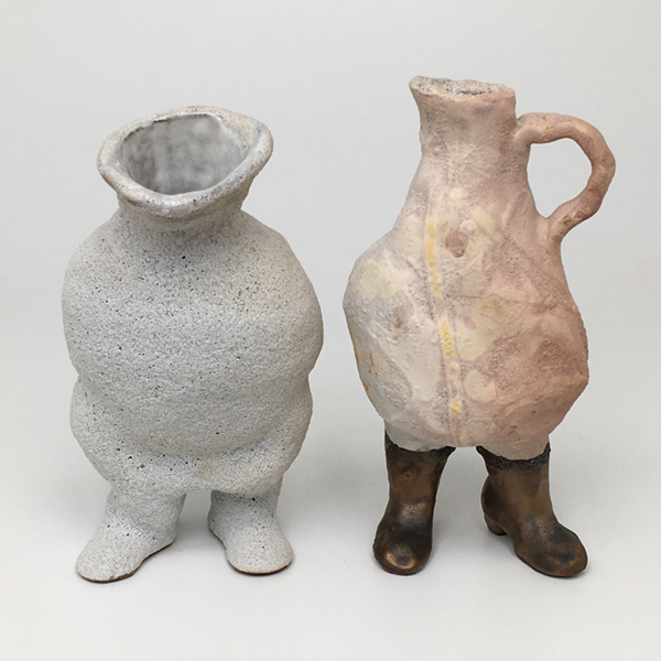 Monsieur et Madame, Glazed ceramic, 2019