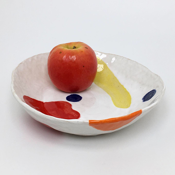 Fruit bowl, ceramic and glaze, 2020
