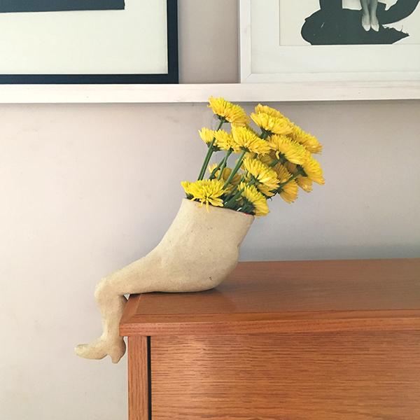 leg vase, ceramic and glaze, 2019
