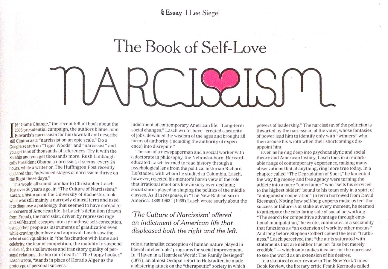 NYT-Narcism